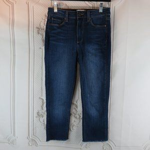 Hoxton Jeans Ultra Skinny Cropped Distressed Hem